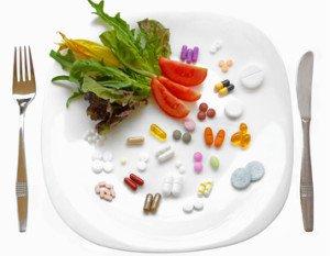 integratoei alimentari nel piatto