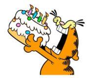 cartone animato che mangia la torta